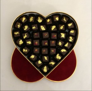 "Matthieu de gottal - ""Flaming Heart"" chocolates ready for posting"
