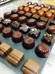 Raymond Blanc - the chocolates ready for packaging